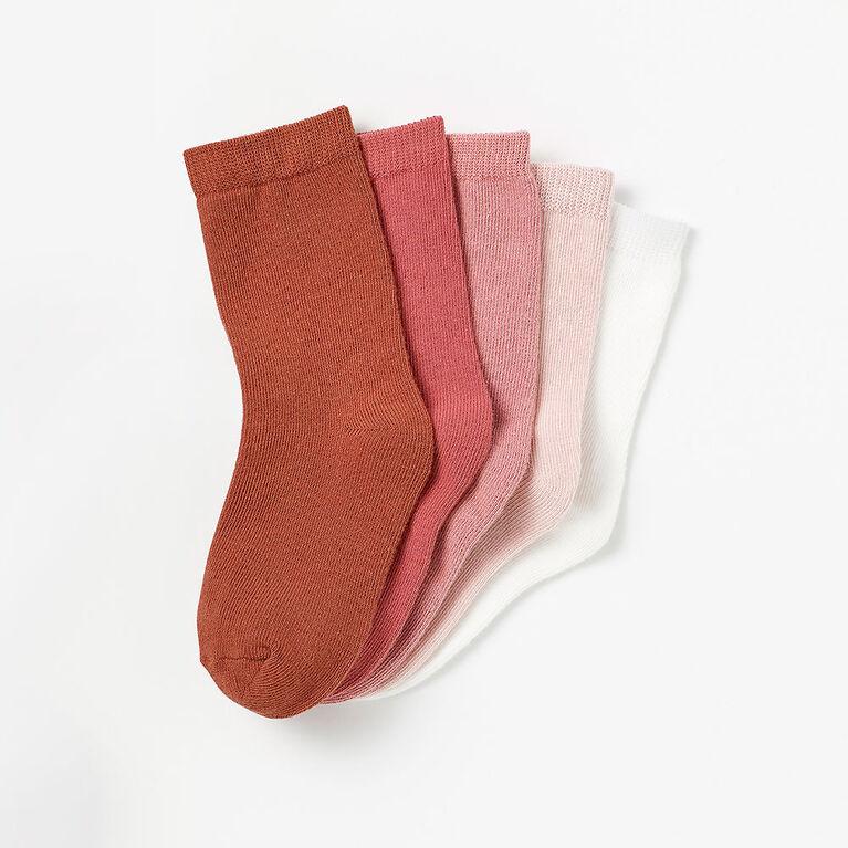 2-3 ans chaussettes mi-mollet de base - rose