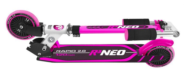 Rugged Racer R3 Neo 2 Wheel Kick Scooter- Pink - English Edition
