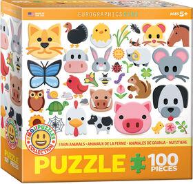 Eurographics Animal Emoji 100 PC Puzzle