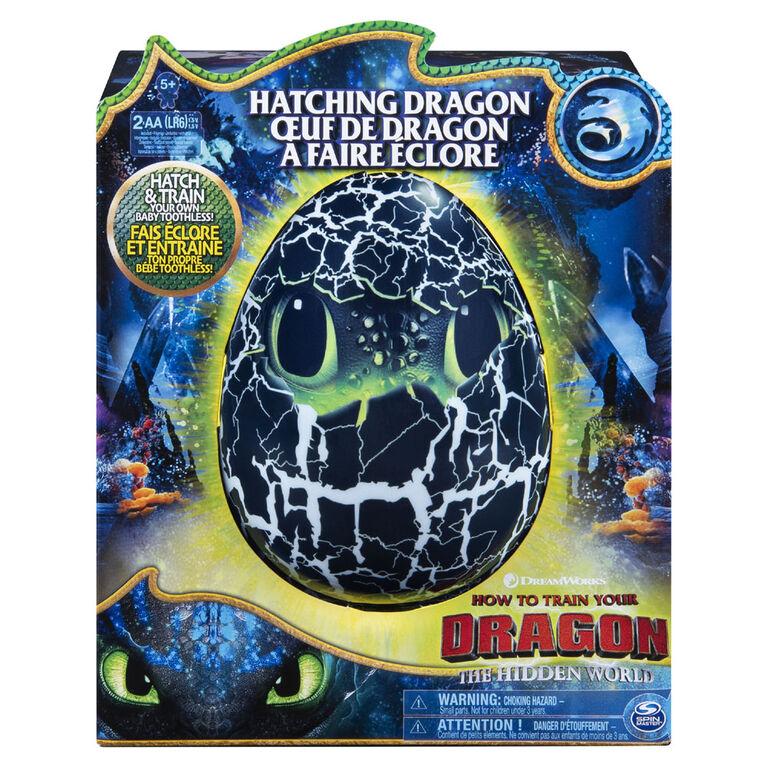 DreamWorks Dragons, oeuf de dragon Krokmou interactif prêt à éclore avec effets sonores, pour les enfants à partir de 5ans