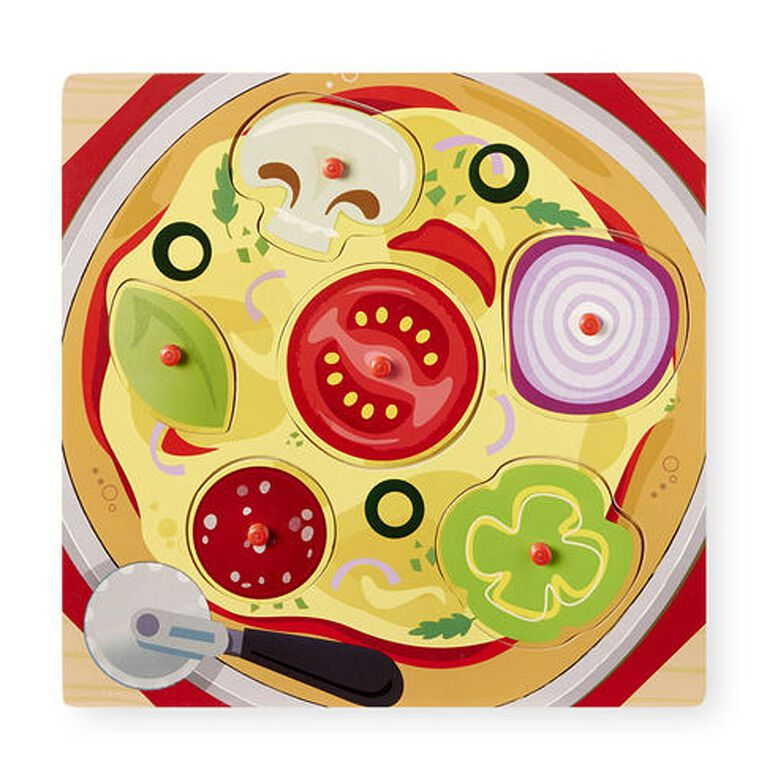 Imaginarium 6 Piece Food Peg Puzzle - Pizza