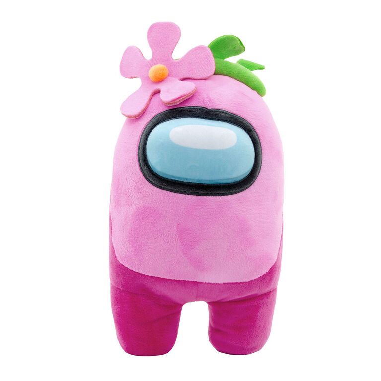 """Among Us 12"""" Plush - Pink With Flower"""