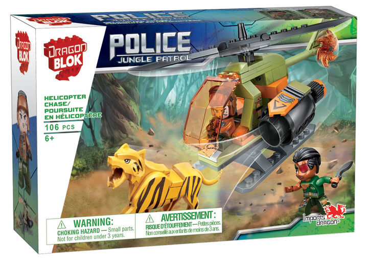 Dragon Blok: Police Jungle Patrol - Helicopter Chase