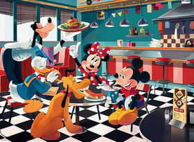 Ceaco Disney Friends Mickey Diner Puzzle 200 pièces