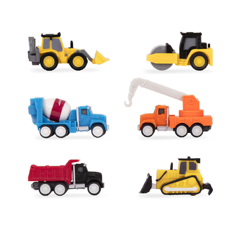 Driven, Construction Crew, Toy Construction Set with Miniature Vehicles