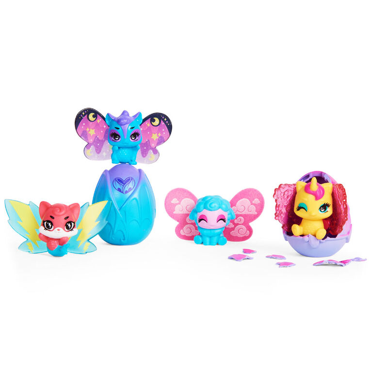 Hatchimals CollEGGtibles, Wilder Wings Multipack with 4 Hatchimals and 4 Mix and Match Wings (Styles May Vary)