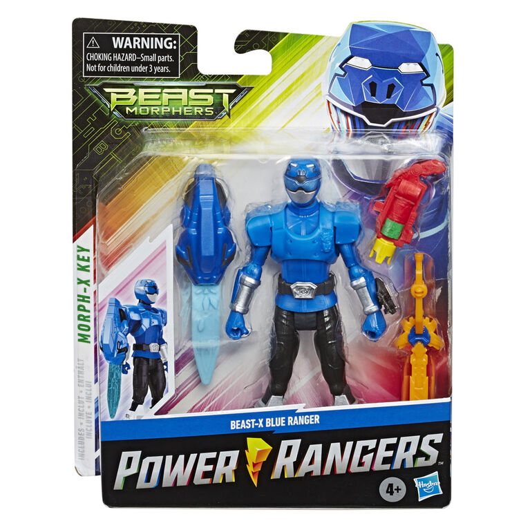 Power Rangers Beast Morphers: Beast-X Blue Ranger 6-inch - inspired by the Power Rangers TV Show