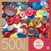 Artiste : Alek Romodin - Casse-tête de 500 pièces - Boutons de toutes les couleurs