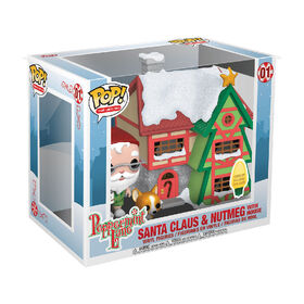Funko POP! Holiday: Peppermint Lane - Santas House with Santa and Nutmeg