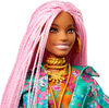 Barbie Extra Doll #10 in Floral-Print Jacket with DJ Mouse Pet