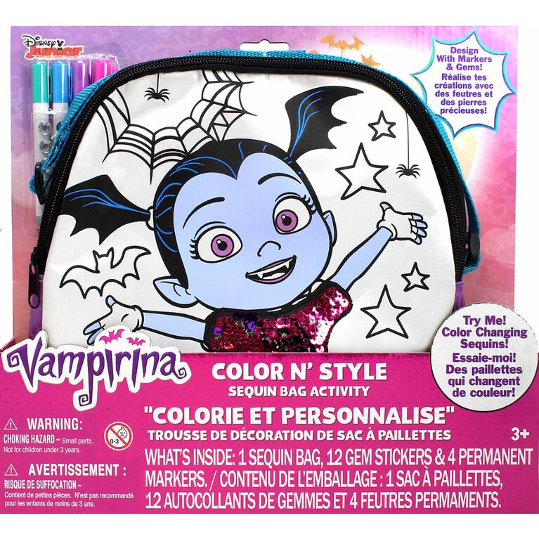 Vampirina Color N Style Sequins Bag Activity