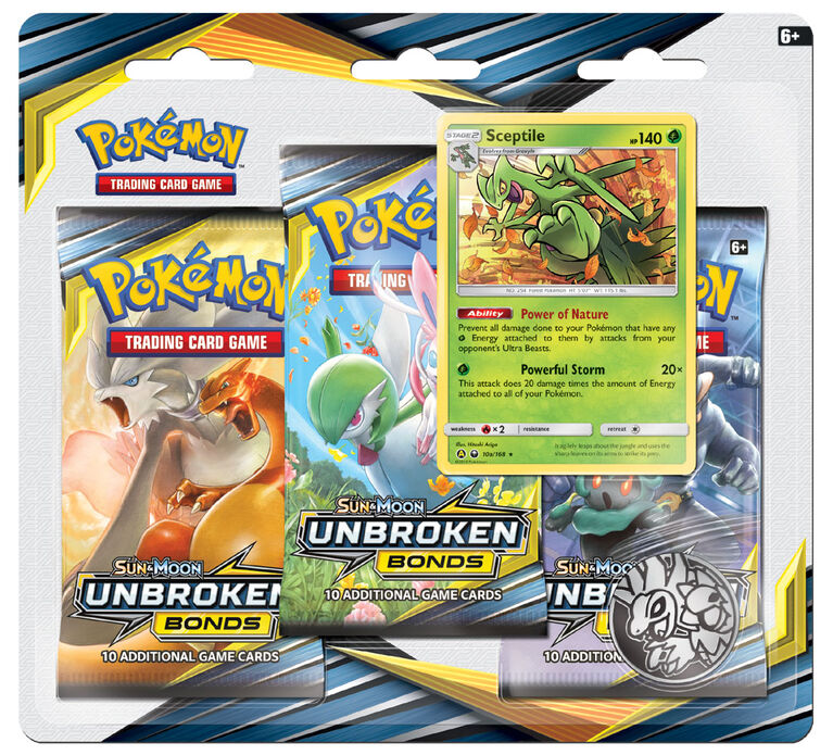 Emballage Coque De 3 Packs Pokemon Soleil Et Lune 10 Alliance