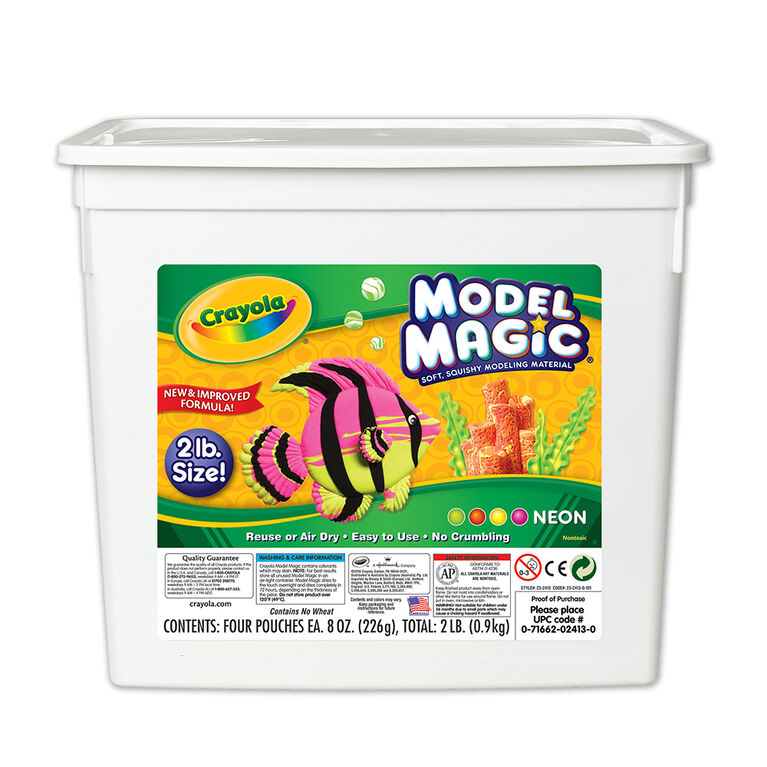 Crayola - Model Magic Bucket, Neon 2lb