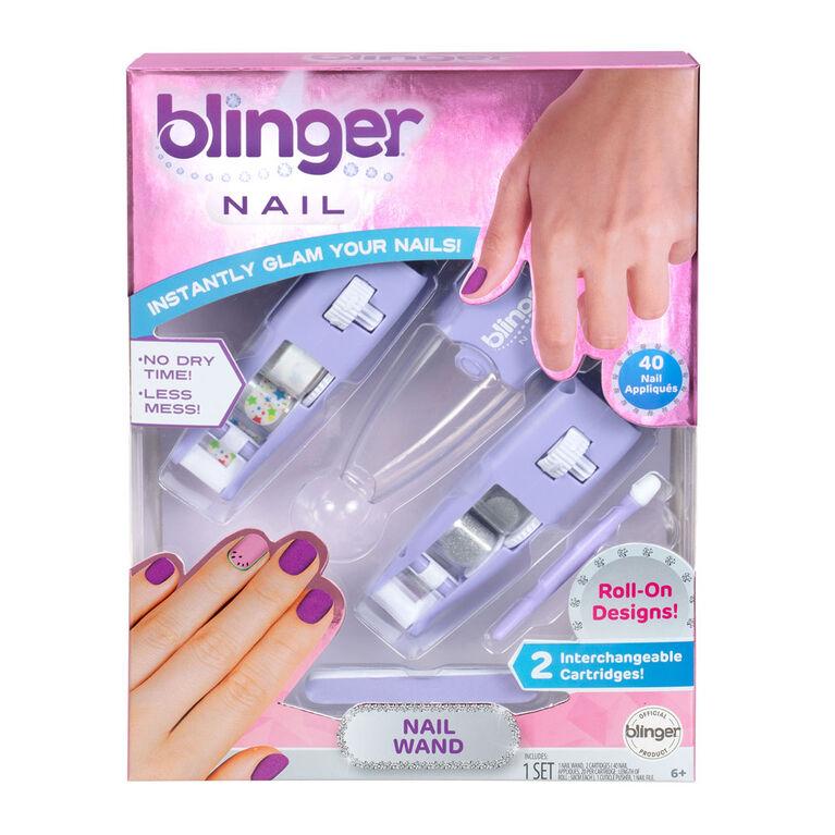 Blinger Nail Wand - Stars & Silver Glitter