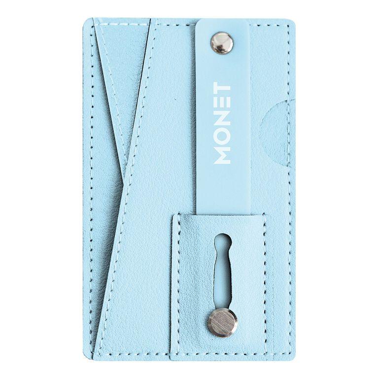 Portefeuille, ganse et béquille Monet pour téléphone - Bleu