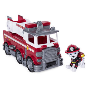 PAW Patrol Ultimate Rescue, Marshall's Ultimate Rescue Fire Truck with Moving Ladder and Flip-open Front Cab