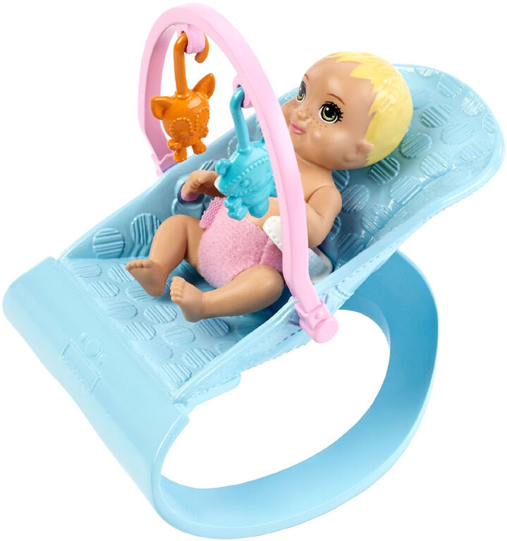 Barbie Skipper Babysitters, Inc. Nap 'n' Nurture Nursery Dolls and Playset