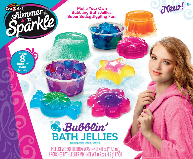 Shimmer ''''n Sparkle Scented Bubblin Bath Jellies