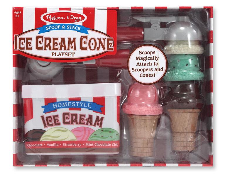 Melissa & Doug Scoop & Stack Ice Cream Cone Playset - styles may vary
