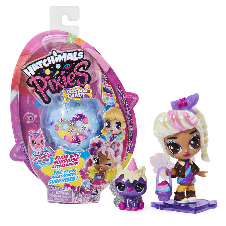 Hatchimals Pixies, Cosmic Candy Pixie with 2 Accessories and Exclusive CollEGGtible (Styles May Vary)