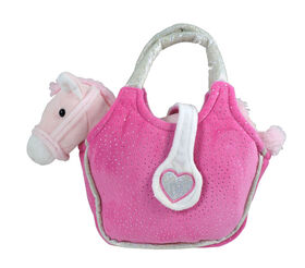 Gipsy - Lovely Bags (Poney rose dans un sac à main fuchsia).
