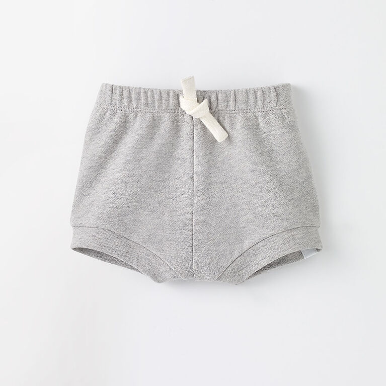 knit baby bloomer, 12-18m - grey mix