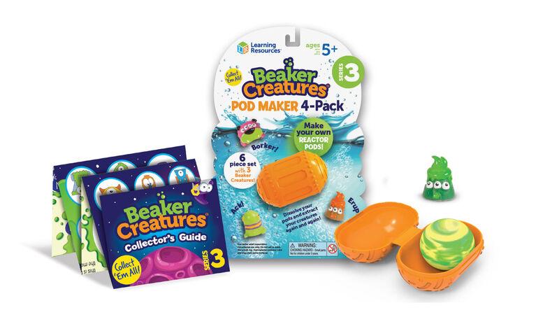 Learning Resources - Coffret Beaker Creatures Series 3 Pod-Maker, paquet de 4 - Édition anglaise