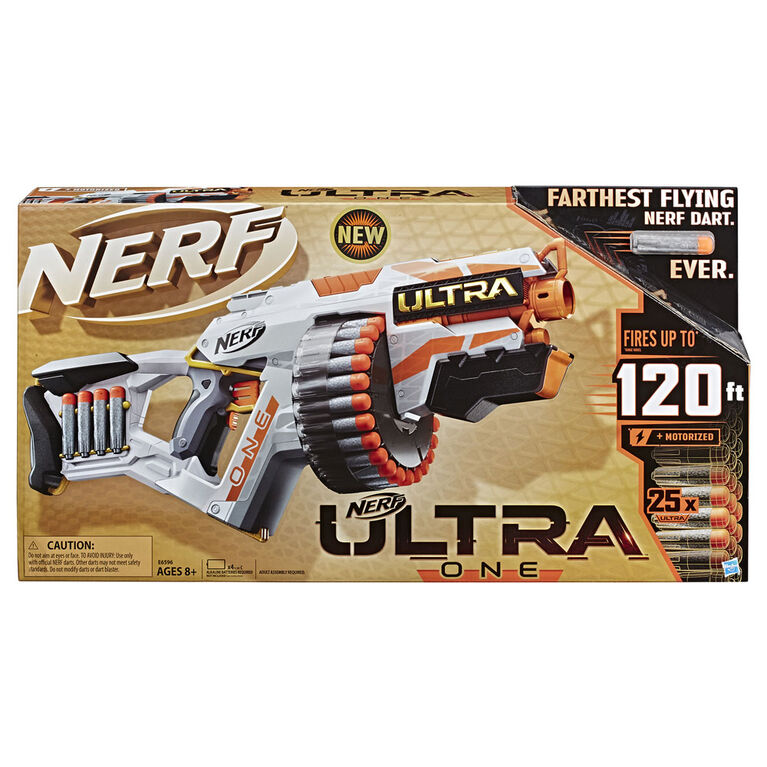 Nerf Ultra One Motorized Blaster -- the Farthest Flying Nerf Darts Ever