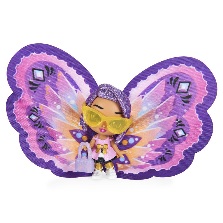 Hatchimals Pixies, Wilder Wings Pixie with Fabric Wings and 2 Accessories (Styles May Vary)