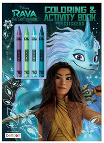 Disney's Raya and the Last Dragon Colouring & Activity Book with Crayons - English Edition