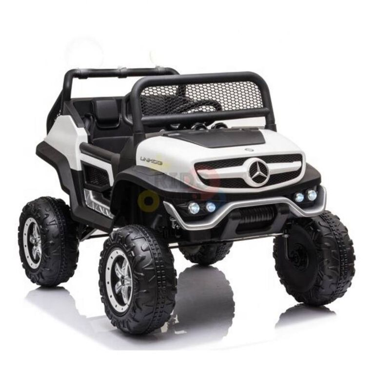 12V Mercedes Unimog 4WD MP4 Ride On - Blanc - Édition anglaise
