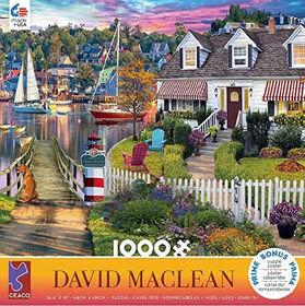 Ceaco David Maclean 1000PC Puzzle Charles Harbour