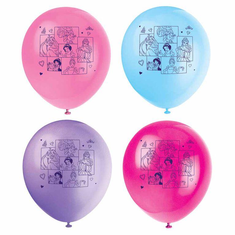 "Princess 12"" Latex Balloons, 8 pieces"