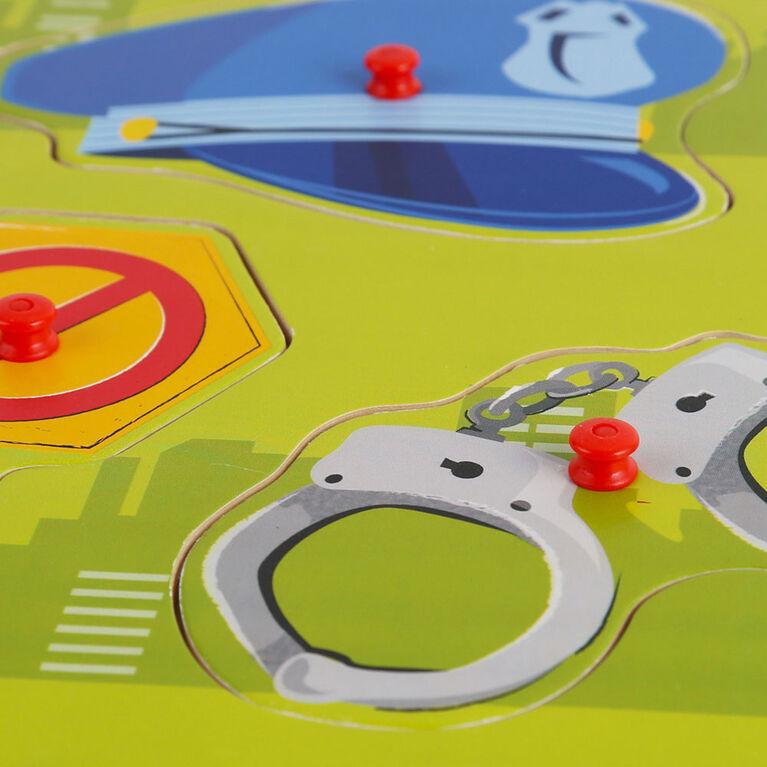 Imaginarium Discovery - 6 Piece Peg Puzzle Assortment - Police