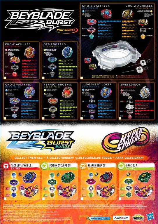 Beyblade Burst Pro Series, Trousse de départ toupie de compétition Cho-Z Valtryek et lanceur