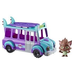 Netflix Super Monsters GrrBus Monster Bus Toy with Lights, Sounds, and Music
