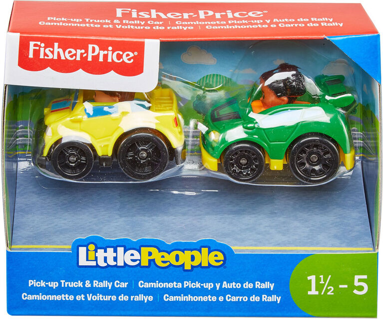 Fisher Price Little People Pick Up Truck Rally Car