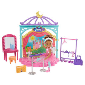 Barbie Club Chelsea Doll and Ballet Playset (6-in Brunette) with Accessories