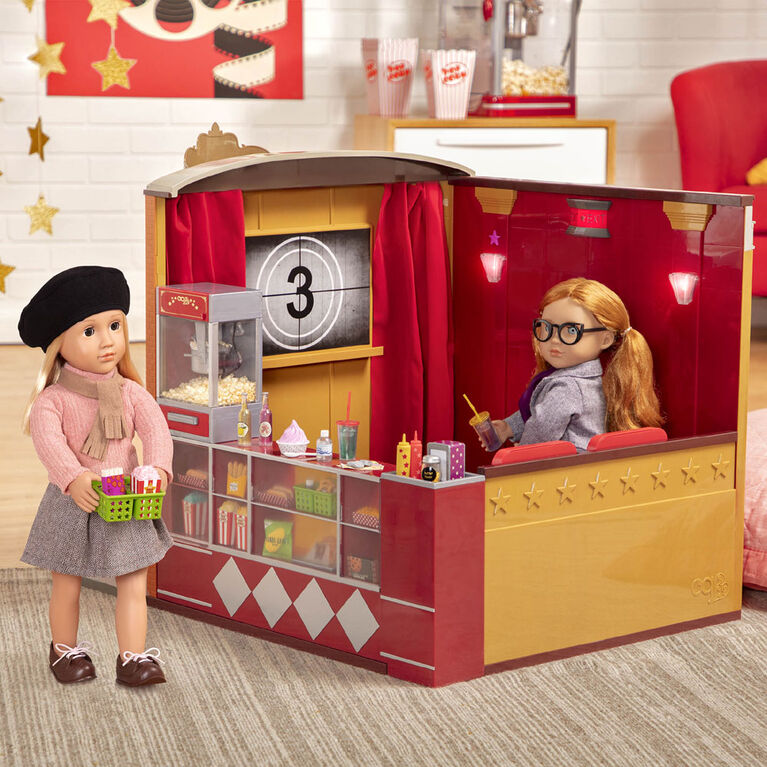 Our Generation, OG Cinema, Movie Theater Playset with Electronics for 18-inch Dolls