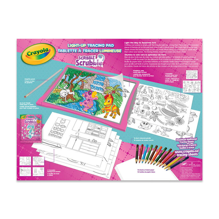 Tablette à tracer luminquer Animaux Scribble Scrubbie Crayola