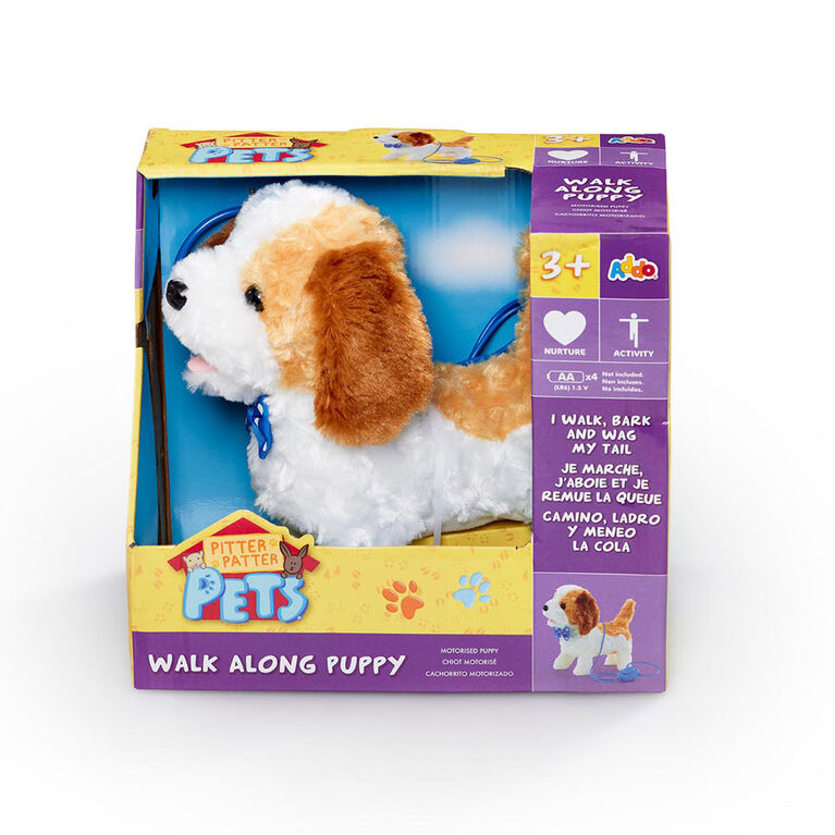 Pitter Patter Pets  - Coffret Walk Along Puppy Brown and White Beagle
