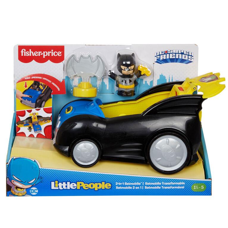 Fisher-Price - Little People - DC Super Friends - Batmobile 2 en 1