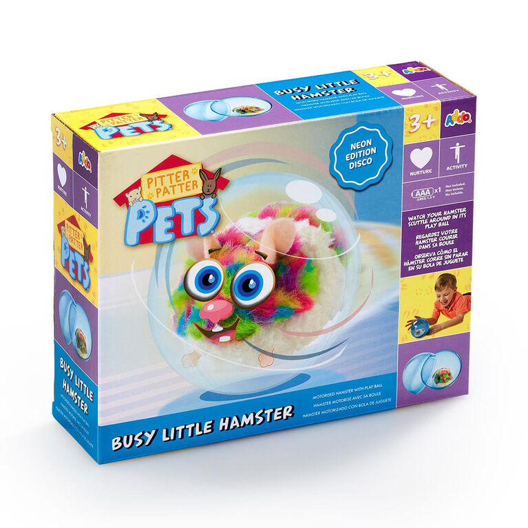 Pitter Patter Pets Busy Little Hamster Neon - Multi - R Exclusive