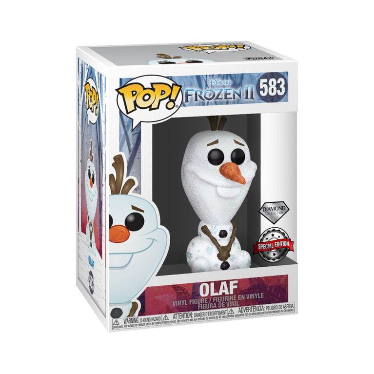 Figurine en Vinyle Olaf (Diamond Glitter) Par Funko POP! Frozen 2 - R Exclusif