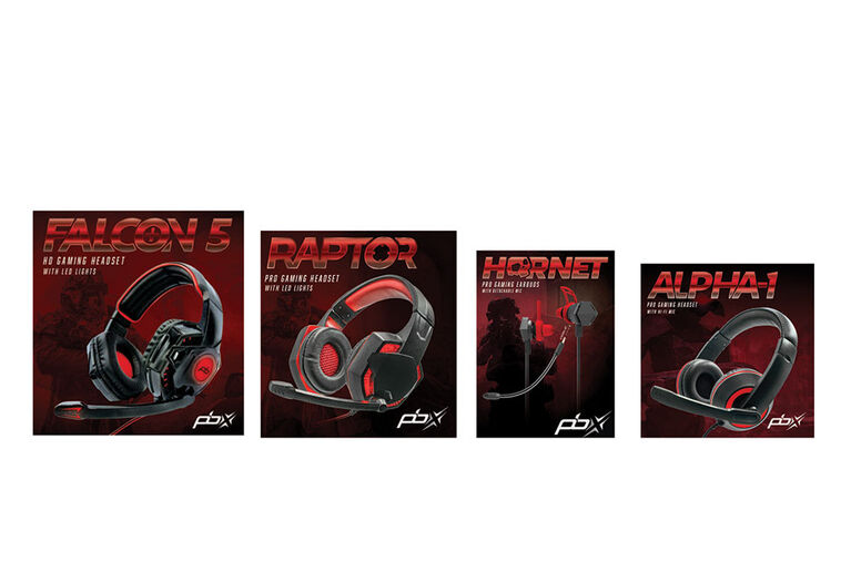 Falcon 5 elite gaming headset with LED lights