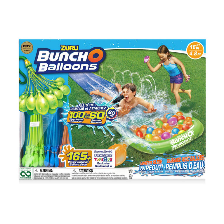 Bunch O Balloons Water Slide Wipeout (1x Lane, 5x Bunches!) - R Exclusive