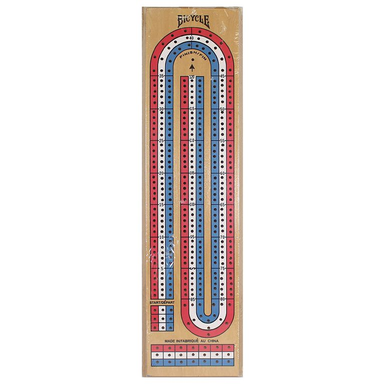 3 Lane Wood Cribbage Game Board