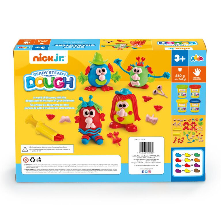 Nick Jr Ready Steady Dough - Coffret Crazy Characters - Notre exclusivité - Notre exclusivité