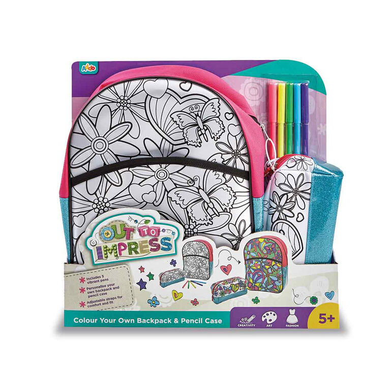 Out To Impress Colour Your Own Backpack And Pencil Case - English Edition