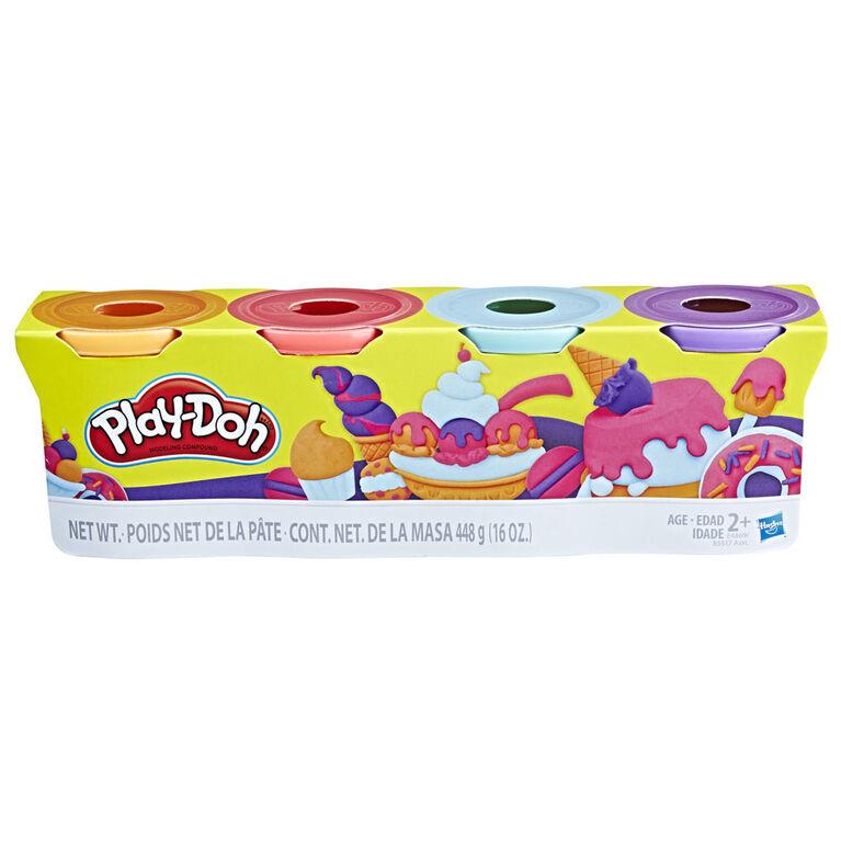 Play-Doh - Ensemble de 4 pots de 448 grammes (couleurs douces)